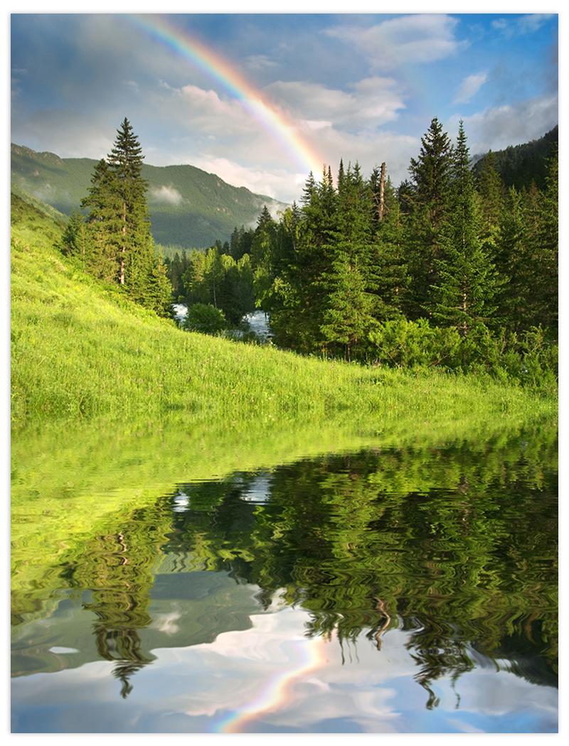 krajina s jazerom